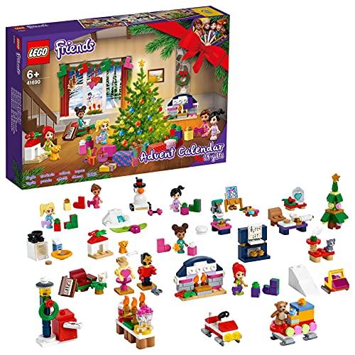 LEGO 41690 Friends Adventskalender 2021 mit Weihnachtsspielzeug für Jungen und Mädchen mit 5...