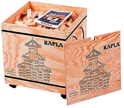 Kapla 1000 Bausteine in Holzbox auf Rollen
