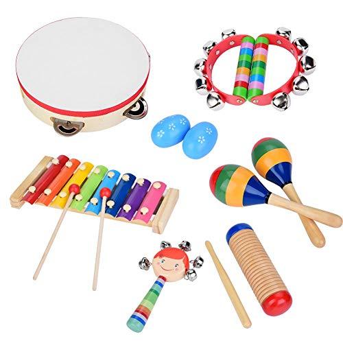 Zerodis Baby Musikinstrumente 13 Stücke Sicher Ungiftig Holz Musikinstrumente Kinder Früherziehung...