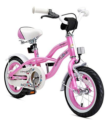BIKESTAR Premium Sicherheits Kinderfahrrad 12 Zoll für Mädchen ab 3 - 4 Jahre | 12er Kinderrad Cruiser...