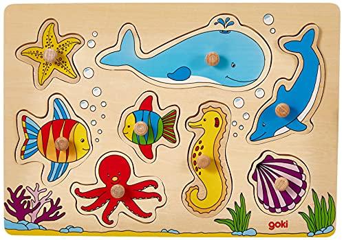 goki 57953 Steckpuzzle, Bunt