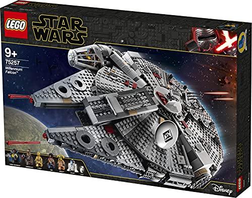 Lego 75257 Star Wars Millennium Falcon Raumschiff Bauset mit Finn, Chewbacca, Lando Calrissian, Boolio,...