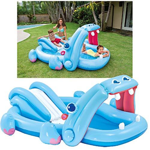 Intex Hippo Play Center - Kinder Aufstellpool - Planschbecken - 221 x 188 x 86 cm - Für 3+ Jahre