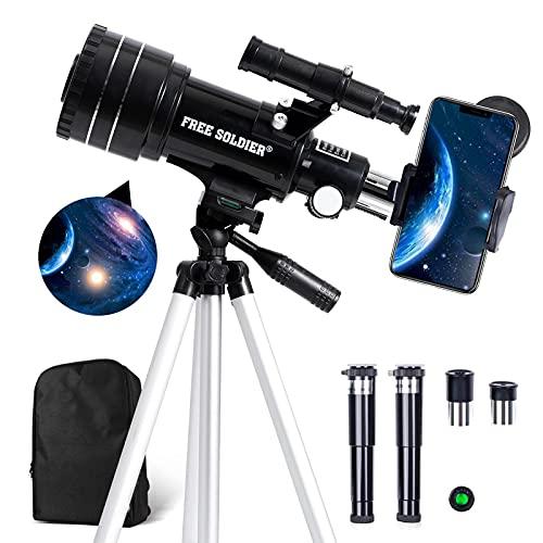 FREE SOLDIER Teleskop Astronomie für Kinder & Anfänger - 15X-150X Astronomisches Teleskop Profi für...