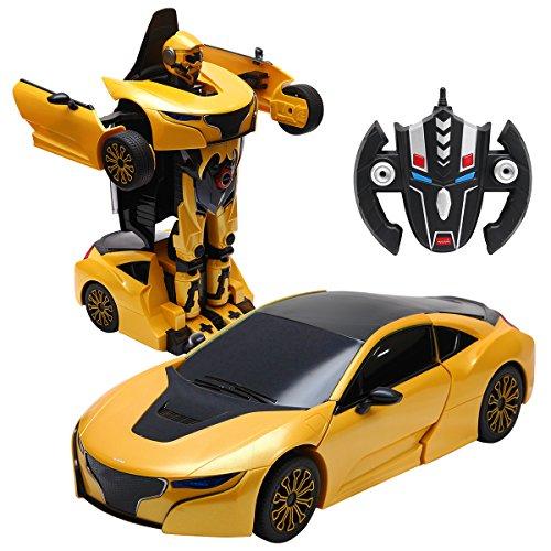 COSTWAY 2,4 GHZ RC Transformator Roboter-Auto, Auto-Roboter ferngesteuert, Kinderspielzeug verwandelbar,...