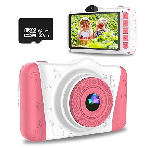 WOWGO KinderKamera, 3,5 Zoll Digital Kamera Spielzeug USB Wiederaufladbarer Selfie Videokamera mit 12...