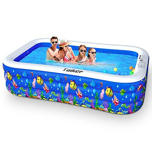 Taiker Aufblasbare Pool, Großer Familienpool, 234 cm x 142 cm x 51 cm Familien-Schwimmbad Schwimmzentrum...
