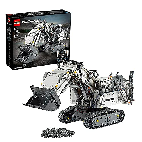 LEGO 42100 Technic Control+ Liebherr Bagger R9800, Ferngesteuerter Bagger, RC Fahrzeug, Spielzeug für...