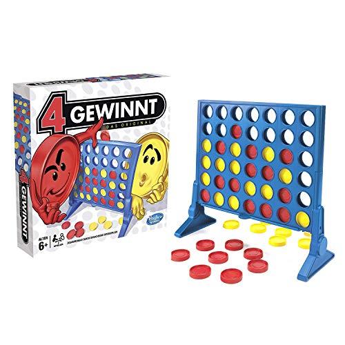 Hasbro - 4 gewinnt Strategiespiel, für 2 Spieler, 4 gewinnt Rasterwand, 4 in einer Reihe, für Kinder ab...