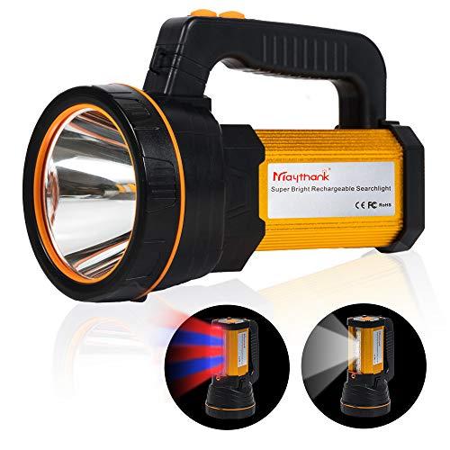 MAYTHANK Extrem helle Wiederaufladbare Taschenlampe Led Batterien 10000mah Akku 4000 Lumen USB Aufladbar...