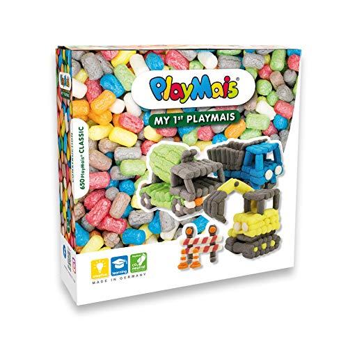 PlayMais Basic My 1st Construction Site Bastelset für Kinder ab 3 Jahren I Motorik-Spielzeug mit 650...