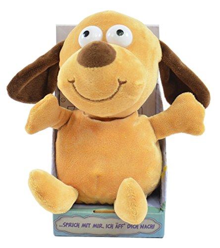 Kögler 75570 - Labertier Hund Bruno, ca. 18 cm groß, nachsprechendes Plüschtier mit Aufnahme- und...