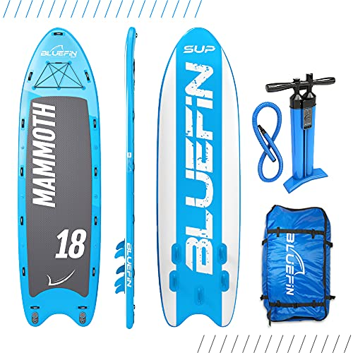 Bluefin Aufblasbares Steh-Paddle Board | Mammut 18′ Modell | Familien/Gruppen-Board – Bis zu 10...