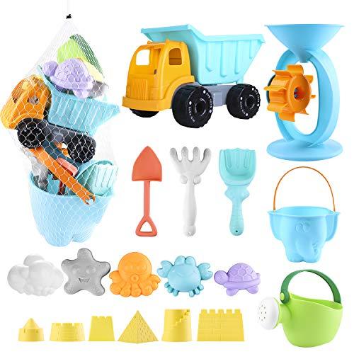 balnore Kinder Junge Mädchen Strandspielzeug, 20 Stück Sandspielzeug Set in wiederverwendbarer...