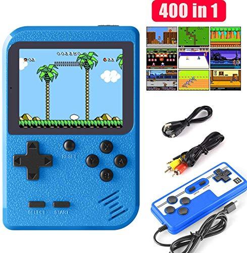 ETPARK Handheld Spielkonsole, 400 Klassische Spielen 2.8-Zoll-LCD-Bildschirm tragbare Retro-spielkonsole...
