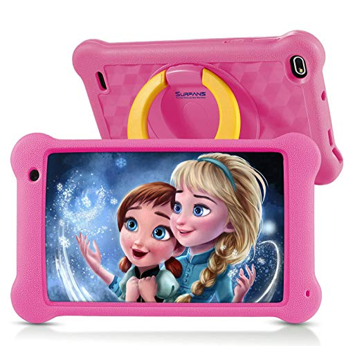 Surfans Kinder-Tablet, 2 GB RAM + 32 GB ROM, 7-Zoll- 1200 * 1920IPS Android 10.0 WiFi-Tablets für Kinder...