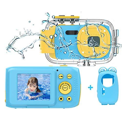 Kinderkamera Wasserdichte Kamera HD 1080P Unterwasserkamera Videokamera für Kinder Kinder Digitalkameras...