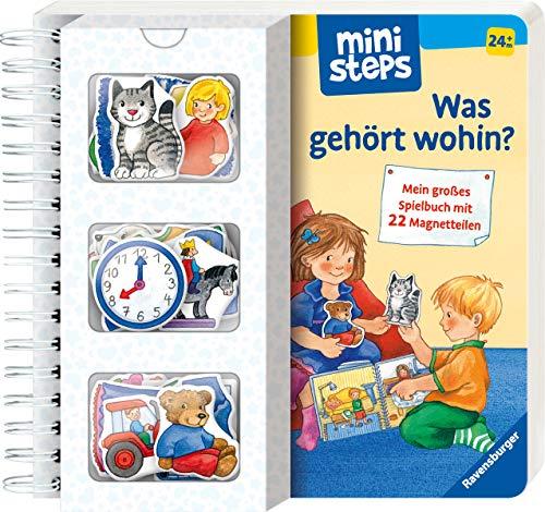 ministeps: Was gehört wohin?: Mein großes Spielbuch mit 22 Magnetteilen. Ab 24 Monaten (ministeps...