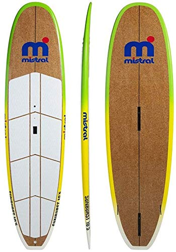 MISTRAL Unisex– Erwachsene Sunburst 10.5 SUP Board, Braun, Blau, Weiß, Gelb, Grün