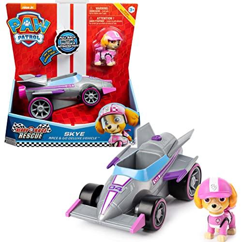 PAW Patrol Skyes Race & Go Deluxe Basis Fahrzeug mit Figur (Ready, Race, Rescue)