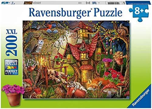 RAVENSBURGER PUZZLE 12951 Ravensburger Kinderpuzzle 12951-Das Waldhaus 200 Teile XXL-Puzzle für Kinder...