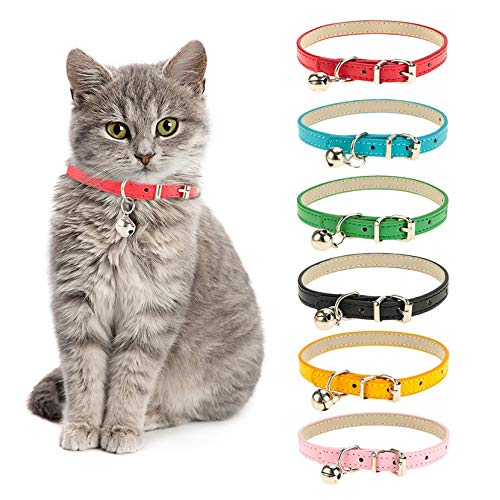 tao pipe Katzenhalsband Leder Haustier Halsbänder Katzenhalsbänder Aus Leder Mit Abnehmbarer...