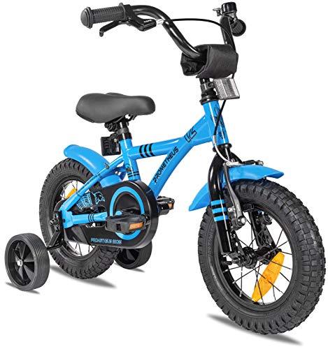 Prometheus Kinderfahrrad 12 Zoll Jungen mit Stützräder ab 3 Jahre Mädchen Rücktritt 12zoll BMX Modell...