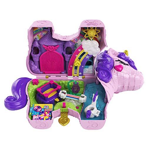 Polly Pocket GVL88 - Polly Pocket Einhorn-Party Spielset, Polly und Lila Puppe und über 25...