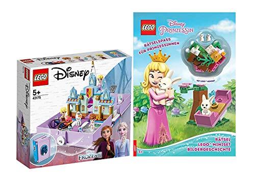 Lego Disney Princess Set: 43175 - Anna und ELSA Märchenbuch + Rätselspaß für Prinzessinnen (Deutsch)...