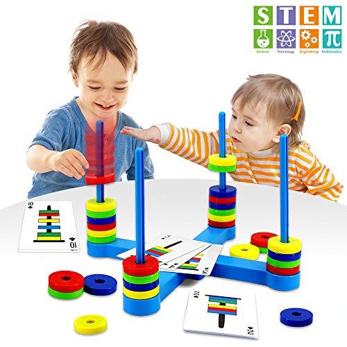VATOS Brettspiel, Pädagogisches Kinderspiele ab 3 4 5 6 7 8 Jahre, Magnetisches Match-Spiel für Jung...