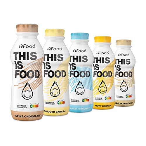 YFood Probierpaket | Laktose- und glutenfreier Nahrungsersatz | 34g Protein, 26 Vitamine und...