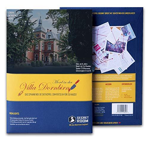 Secret Room Detektiv Spiel - Rätselbuch Mord in der Villa Dornbirn - Escape Room Spiel - Spannendes...