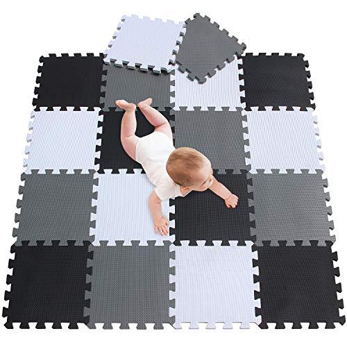 meiqicool Puzzlematte Spielmatte Spielteppich Schaumstoff Puzzle Kinderteppich Boden Puzzle kriechen Play...