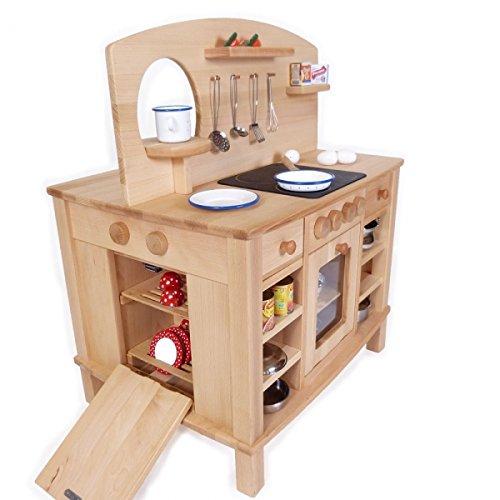 Kinder-Spielküche Cinderella 2050-4-seitig bespielbar - mit 4 Feststellrollen