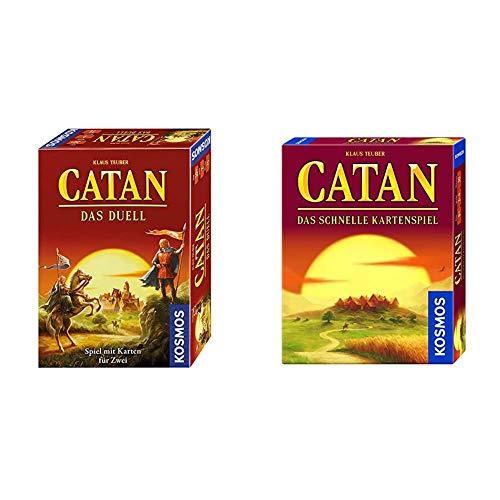KOSMOS 693732 - CATAN - Das Duell, Strategiespiel, Spiel mit Karten für 2 Spieler & 740221 CATAN - Das...