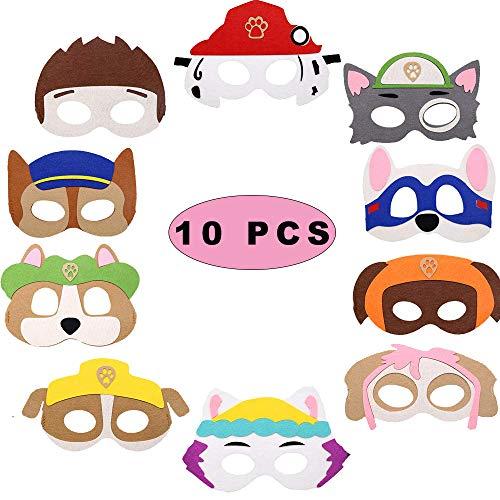 Sunshine smile iermasken für Kinder Filz,Paw Dog Patrol Spielzeug,Puppy Party Masken,Paw Dog...