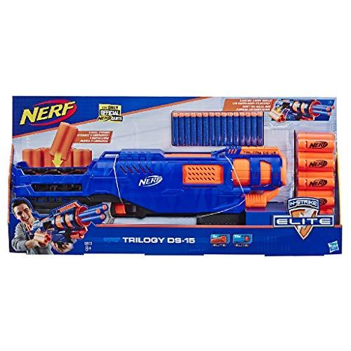 Trilogy DS-15 Nerf N-Strike Elite Spielzeug Blaster mit 15 Nerf Elite Darts und 5 Hülsen – Für...
