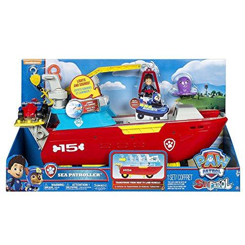 PAW PATROL 6037846 - Sea Patroller Schiff mit Ryder Figur