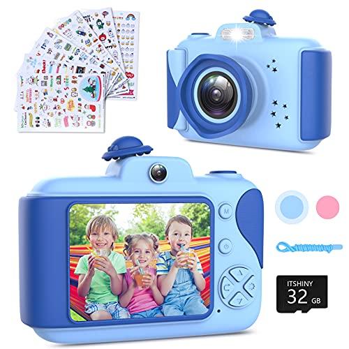 Kinderkamera - Digitalkamera Kinder mit 2,4 Zoll Großbildschirm 1080P HD 12MP Eingebaute 32GB SD-Karte...