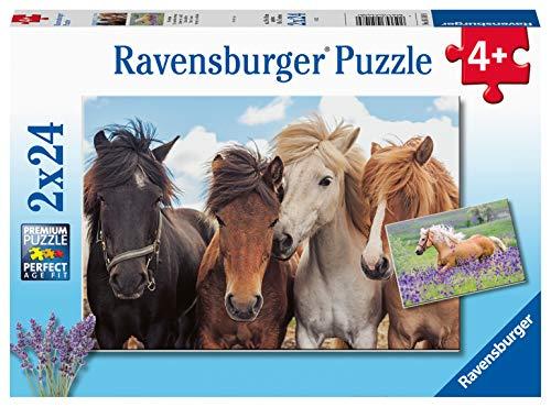 Ravensburger Kinderpuzzle - 05148 Pferdeliebe - Pferde Puzzle für Kinder ab 4 Jahren, mit 2x24 Teilen