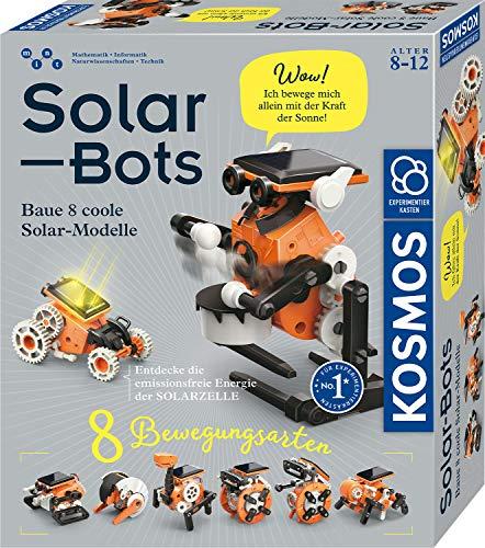 KOSMOS Solar Bots, Baue 8 Solar-Modelle, Bausatz für Roboter mit Solarenergie-Antrieb, Solarzelle mit...