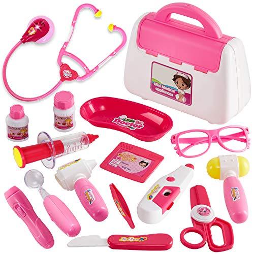 BUYGER Rollenspiel Spielzeug Arztkoffer Kinder Kind Doktorkoffer Spielzeug ab 3 4 5 Jahre für Mädchen...