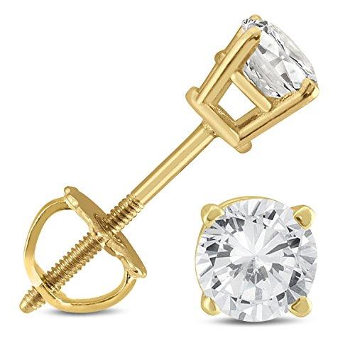 Original McPearl Solitär Diamant Ohrstecker, 1ct. Top Qualität aus Deutschland.