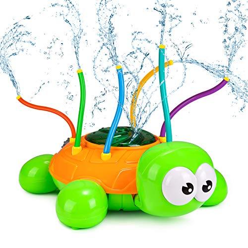 joylink Wassersprinkler für Kinder, Schildkröte Wassersprühspielzeug mit 6 Schlauch Kreativ Sprinkler...