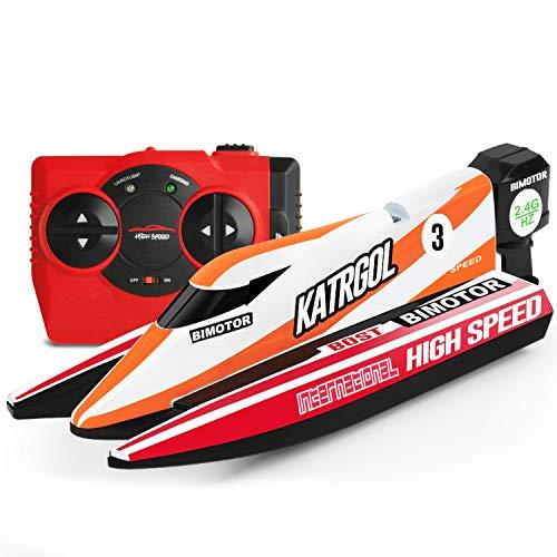GizmoVine Mini Ferngesteuertes Boot für Kinder,Schnelle RC Boote für Pools Racing Boot Wasserspielzeug...