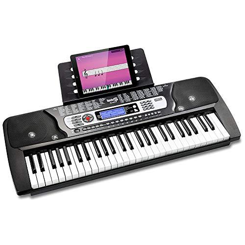 RockJam 54 Tasten Keyboard Klavier mit Netzteil, Notenständer, Klaviernoten-Sticker & Simply Piano...