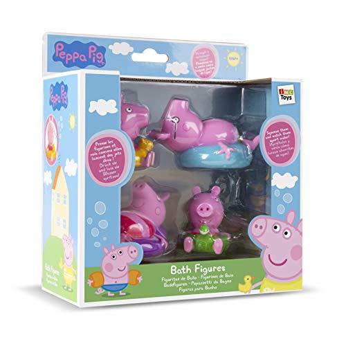 IMC Toys 360037 - Peppa Pig Badefiguren 4 Stück (Sortiert)