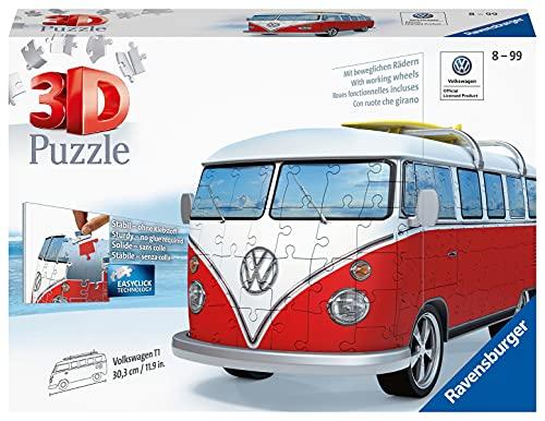 Ravensburger 3D Puzzle 12516 - Volkswagen T1 - 3D Puzzle für Erwachsene und Kinder ab 10 Jahren, VW...