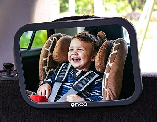 Onco 360° Baby Autospiegel - 100% Bruchsicherer Rücksitzspiegel für eine Sichere Fahrt - Baby...