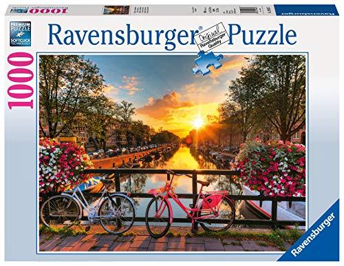 Ravensburger Puzzle 19606 - Fahrräder in Amsterdam - 1000 Teile Puzzle für Erwachsene und Kinder ab 14...